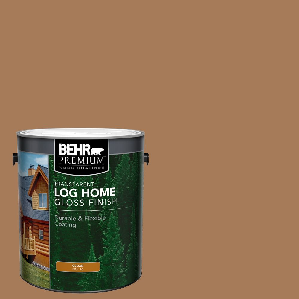 BEHR Fini lustré pour maisons en bois rond - Cèdre, 3,79 L