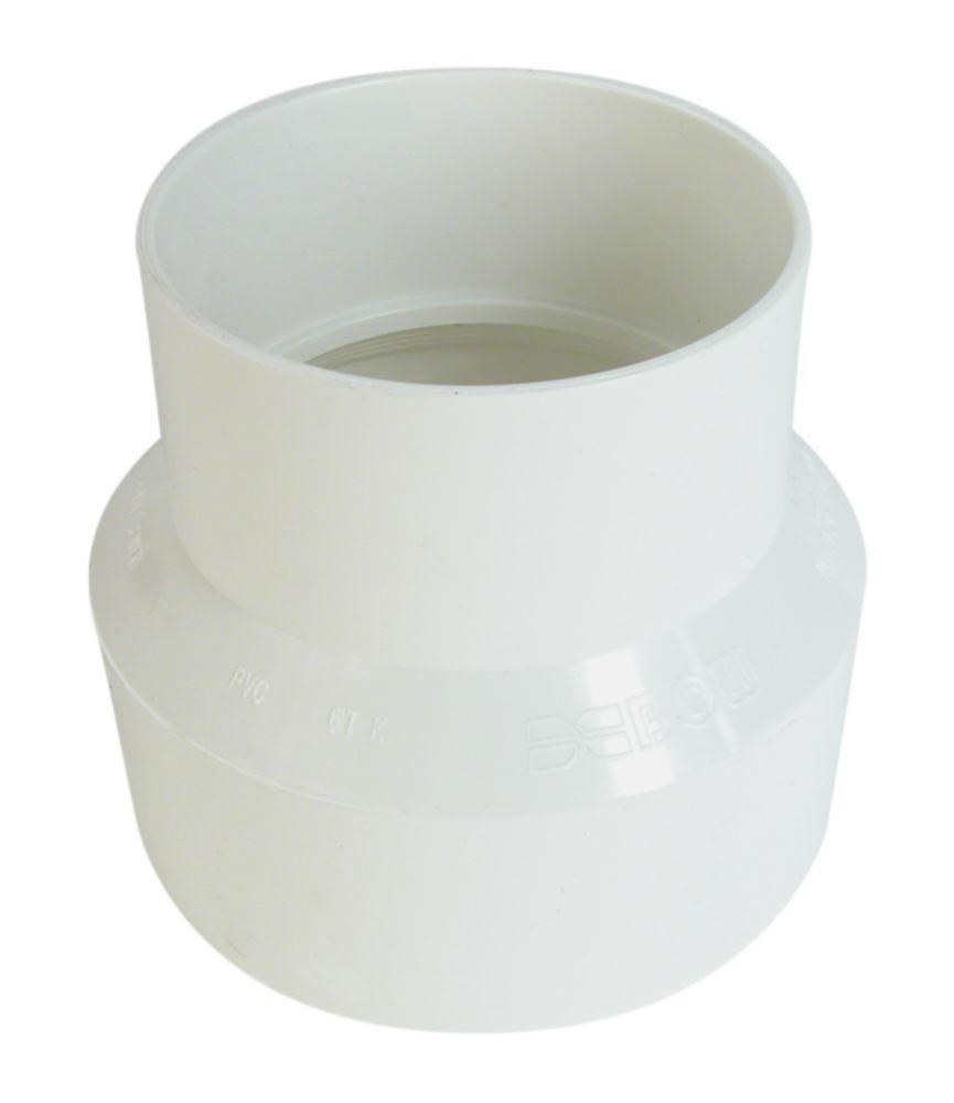 Raccord pour égout et drainage PVC manchon 6 po x 4 po