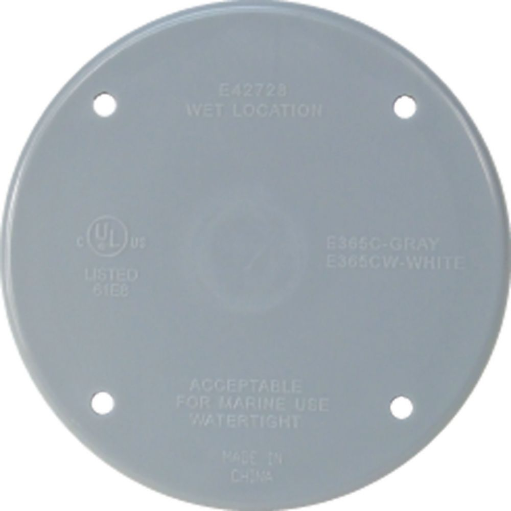 Weatherproof Round PVC Cover � Grey