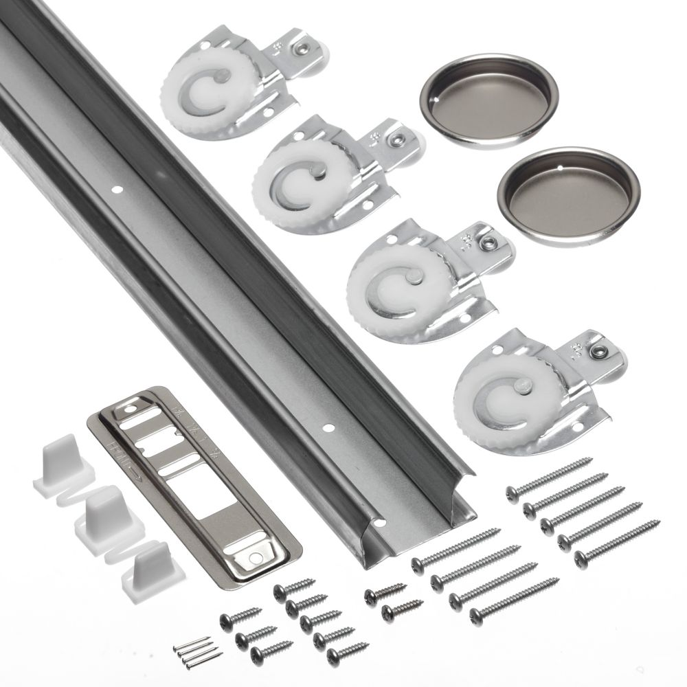 Worksavers 60 Inch Sliding Door Track And Hardware Kit