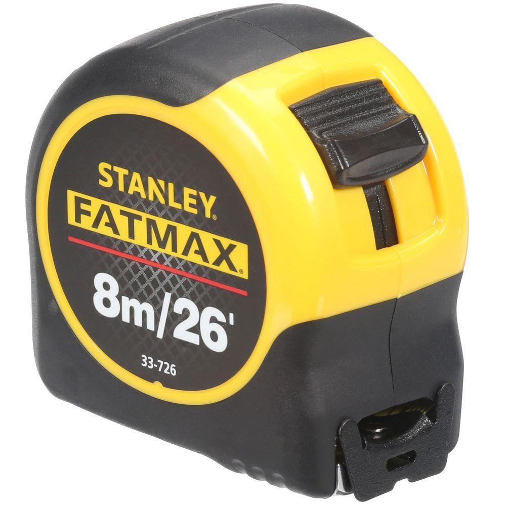 Mètre à ruban de 26 pi (8 m) x 1 ¼ po FatMax, mesures métriques et en fractions de pouce