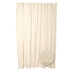 Fabric Shower Liner - Taupe