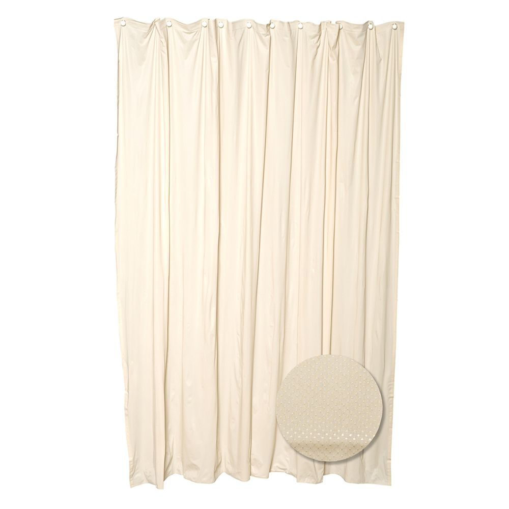 Zenith Products Fabric Shower Liner - Taupe