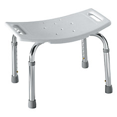 Adjustable Shower Seat in Glacier White