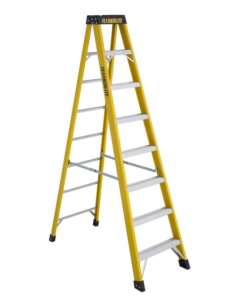 Featherlite fibreglass step ladder 8 Feet  grade IA