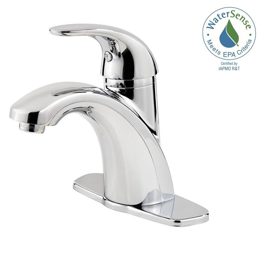 Parisa 4 In. Lavatory Faucet (Installs with or without deckplate) - Polished Chrome