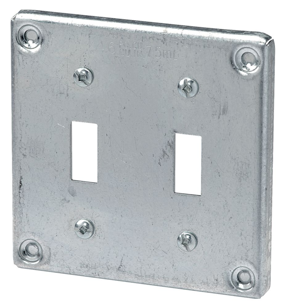 4 In. Square Cover Two Toggle Switch