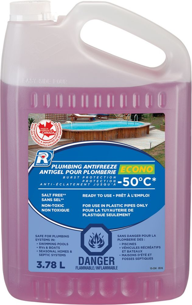 Economical RV Plumbing Antifreeze 3.78 L