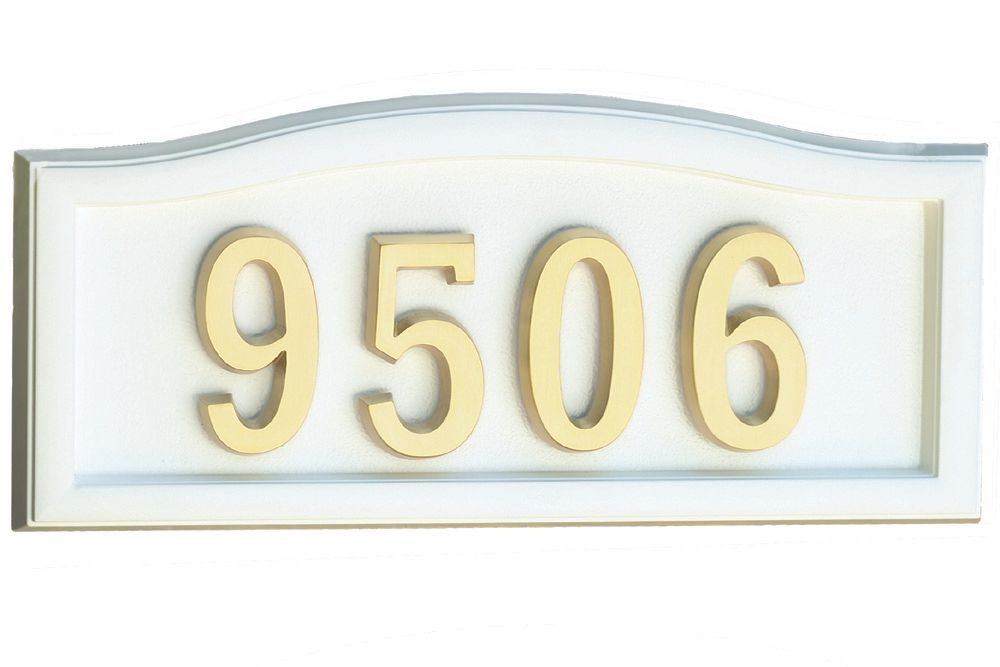 White Cast-Aluminum Address Plaque