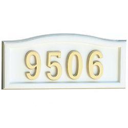SoftCurve Plaque de numéro civique blanche en fonte d'aluminium