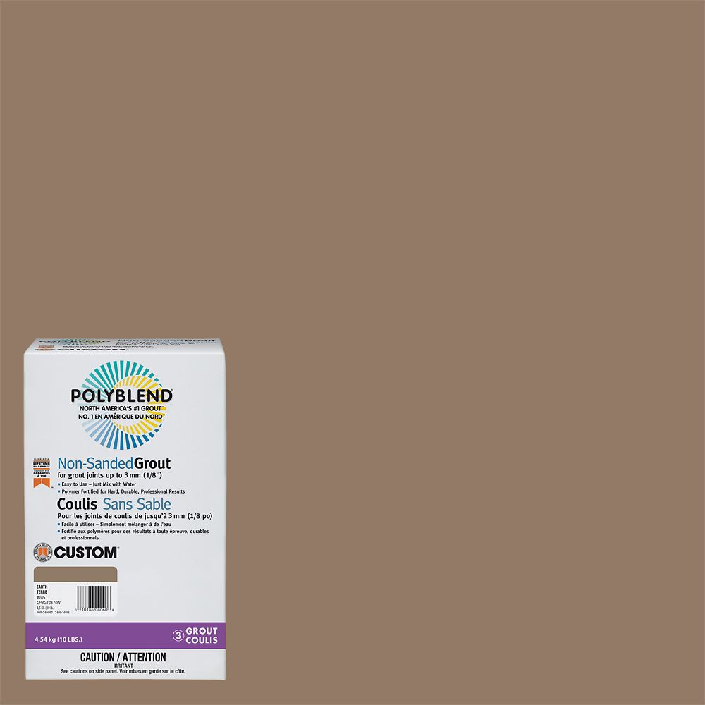 #105 Earth - Polyblend Non-Sanded Grout - 10lb