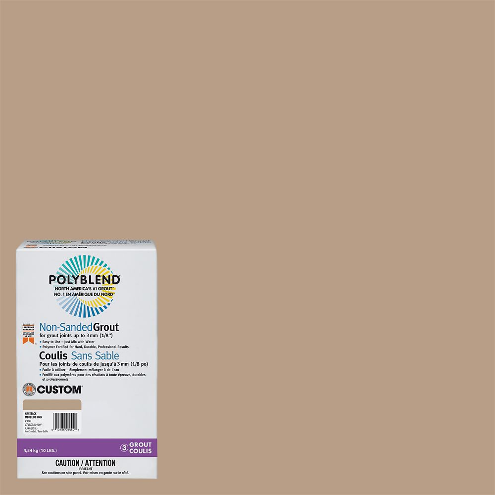#380 Haystack - Polyblend Non-sanded Grout - 10lb CPBG38010N Canada Discount