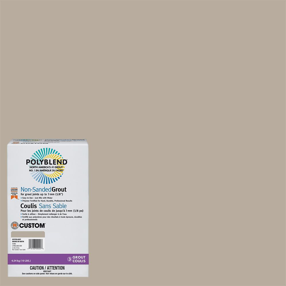 #386 Oyster Gray - Polyblend Non-sanded Grout - 10lb CPBG38610N Canada Discount