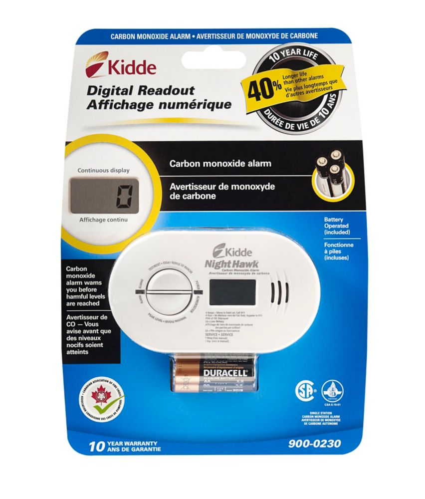 Kidde Digital CO Alarm, Battery Operated