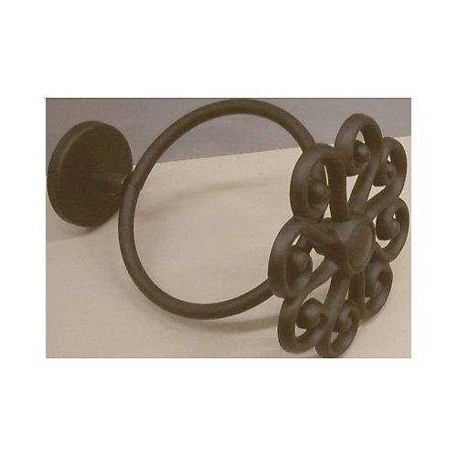 3-1/2 In. Diameter Scarf Filigree Ring - Black (Pair)