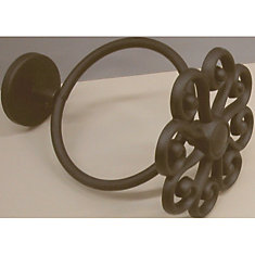 3-1/2 In. Diameter Scarf Filigree Ring - Black (Pair)