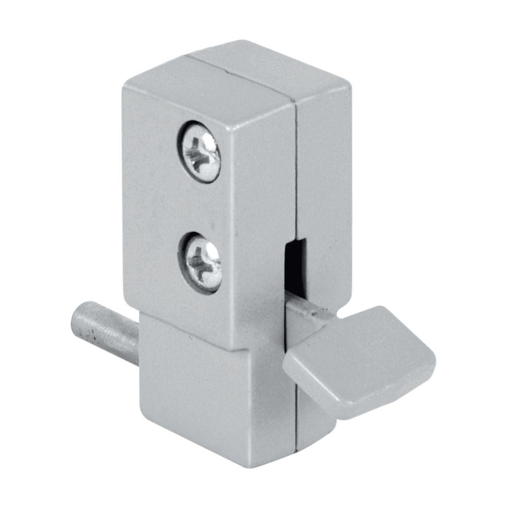 Verrou à pied en aluminium pour porte coulissante