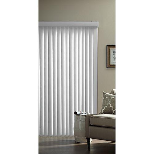 Designview Ensemble de store vertical de 8,9 cm (3½ po) (embossé), Blanc, 264.16cmx213cm (Largeur réelle 264.16cm)