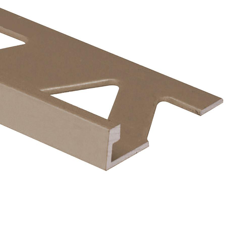 Ceramic Aluminum Tile Edge, Satin Titanium - 5/16 Inch (8mm)