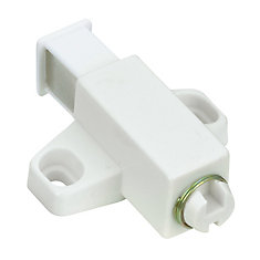 White Single Automatic Magnetic Latch with Plate
