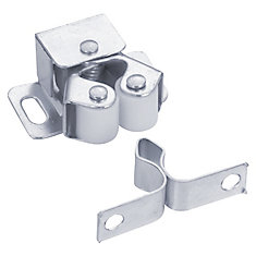 Double Roller Catch with Diamond Strike - Zinc