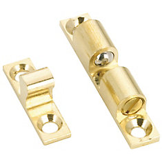 44 mm x 8 mm Heavy-Duty Double Ball Latch - Brass