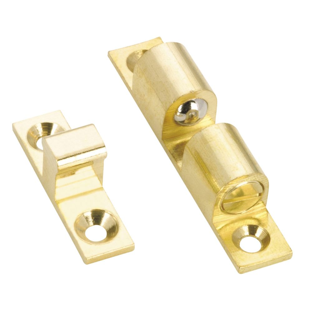 60 mm x 11 mm Brass Finish Double Catch