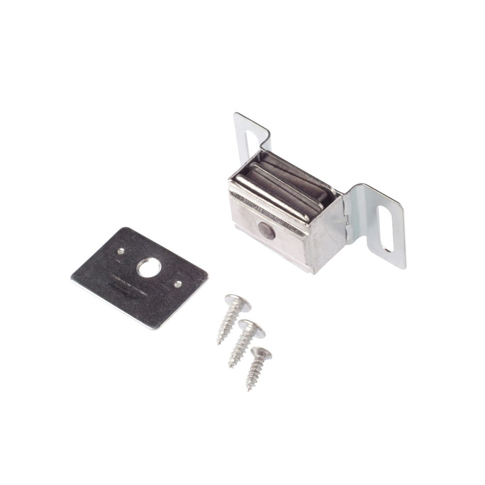 Double magnetic catch with plate aluminium