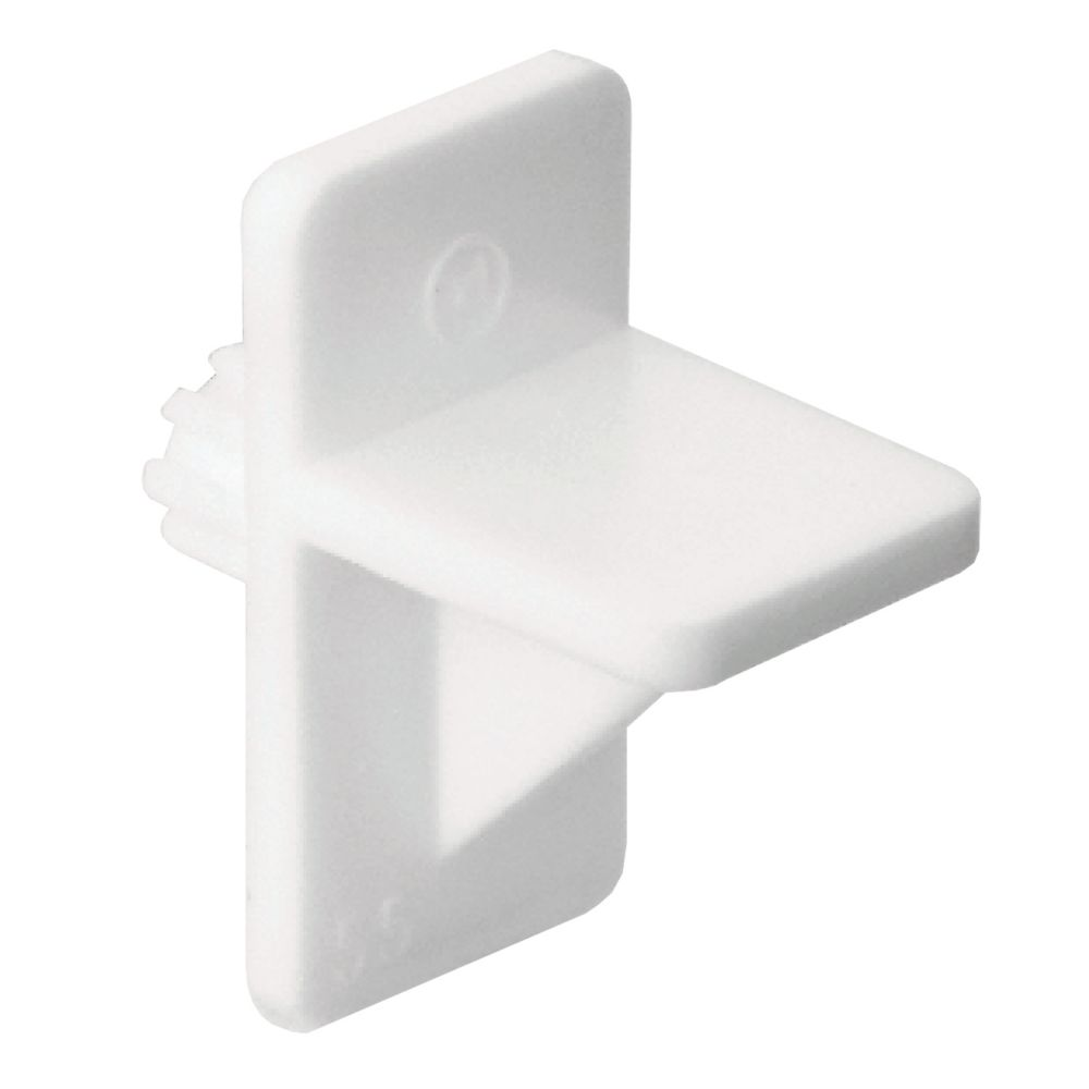 Shelf support platsic 1/4 In. white