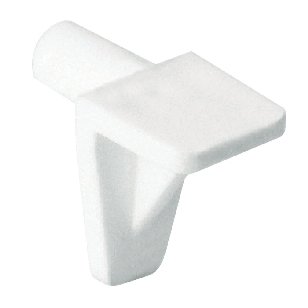 Shelf support plastic 5mm - white