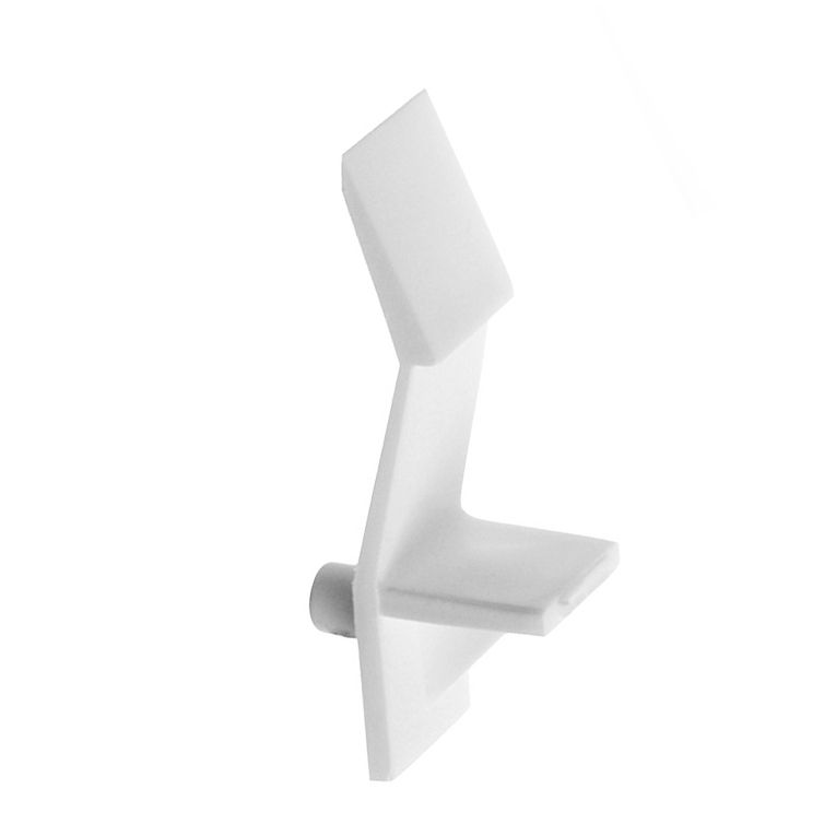 "Support tablettes 1/4"" blanc"
