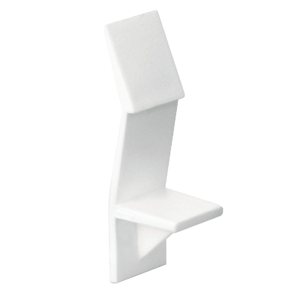 Locking White Plastic Shelf Support