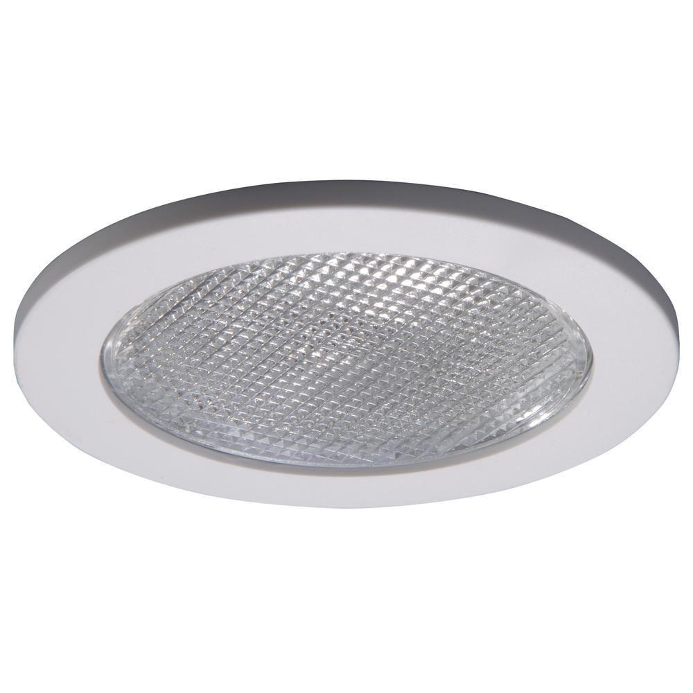 Luminaire de douche 951PS avec garniture blanc satiné, ouverture de 10 cm