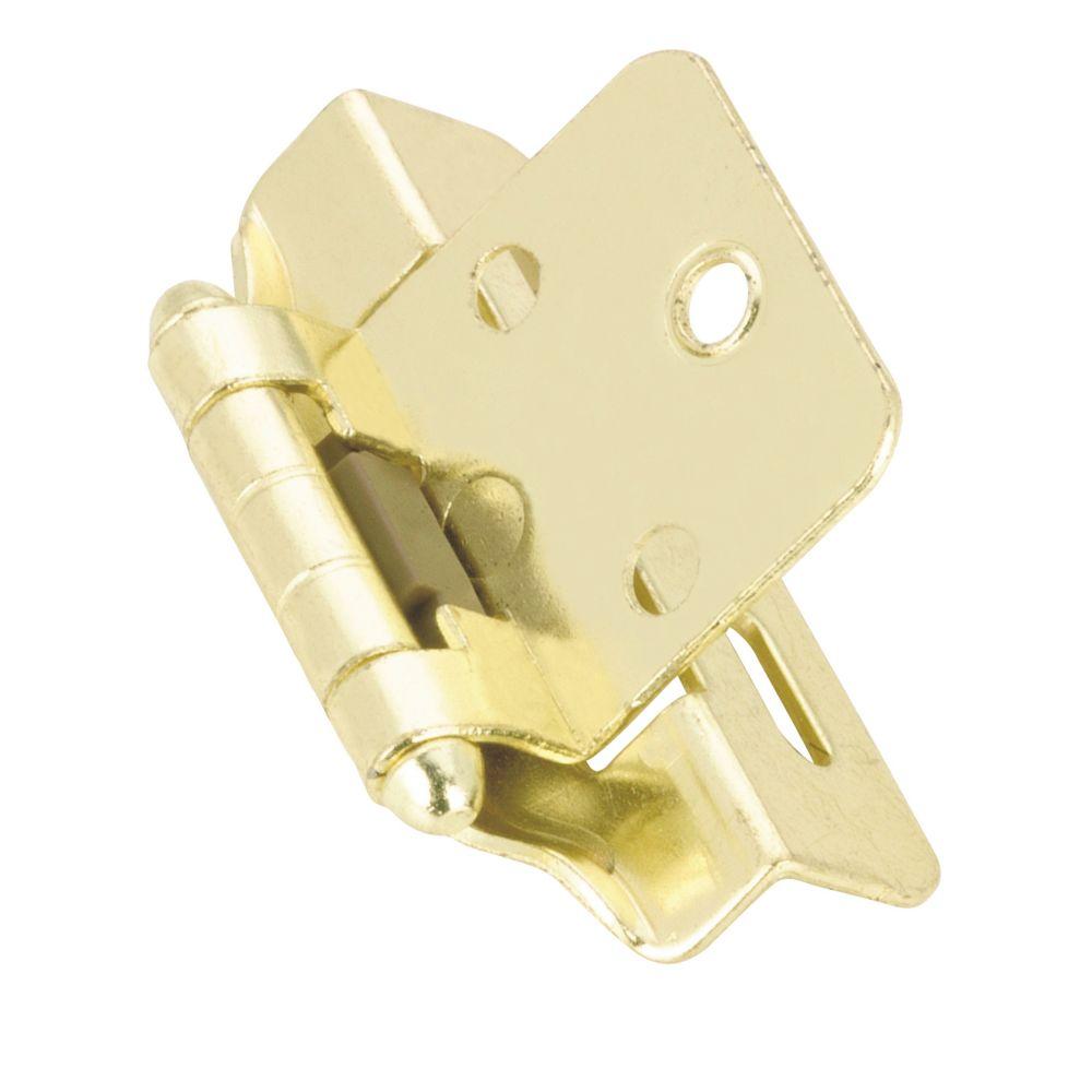 Hinge self closing 1/4 In. overlay - brass
