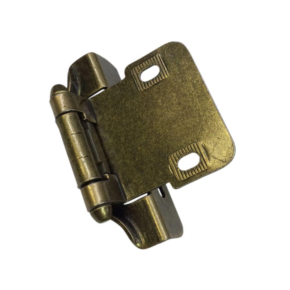 Hinge self closing 1/4 In. overlay - antique brass