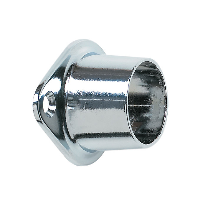Screw-in Closed Rod Support - Chrome