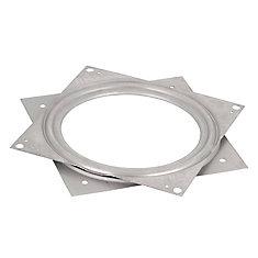 Square Steel Swivel Plate 6 in. X 6 in. - 500 lbs (227 Kg) - Zinc