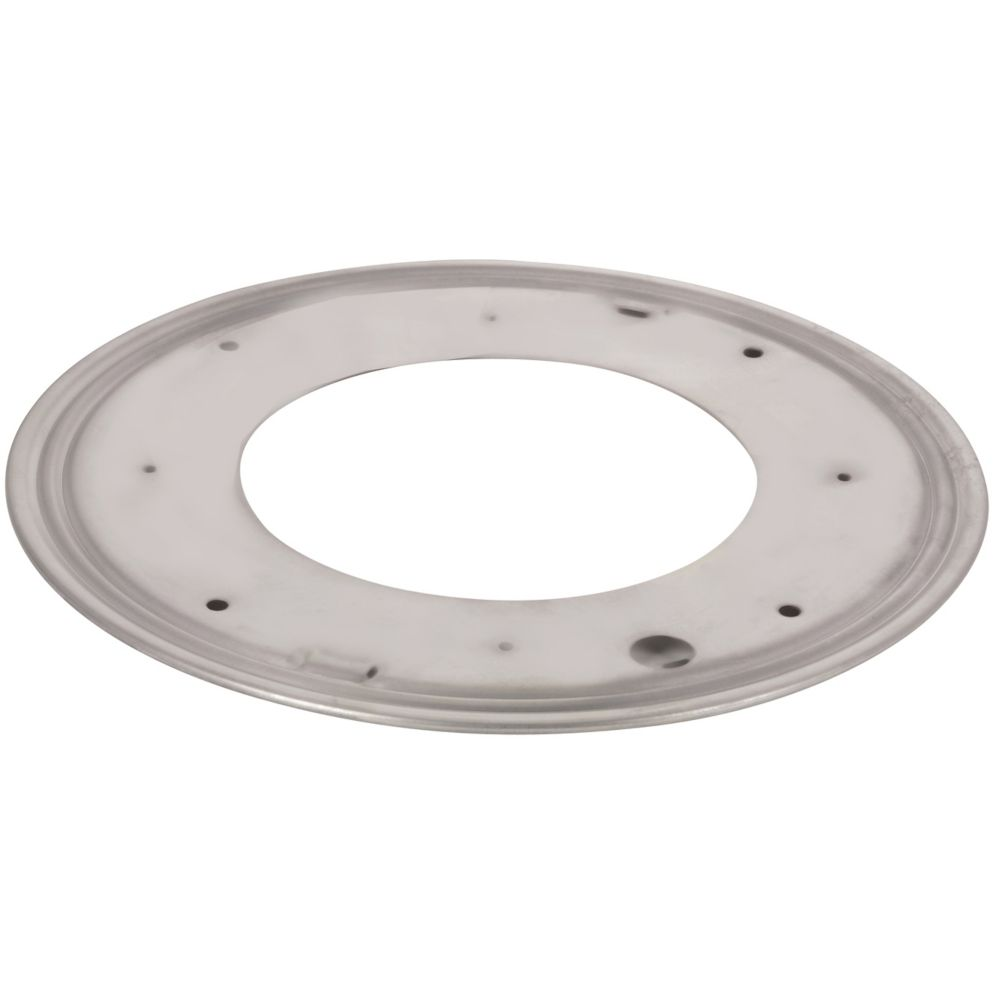 Round Steel Swivel Plate - 9 in. - 750 lbs (340 Kg) - Zinc
