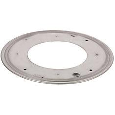 Round Steel Swivel Plate - 12 in. - 1000 lbs (454 Kg) - Zinc
