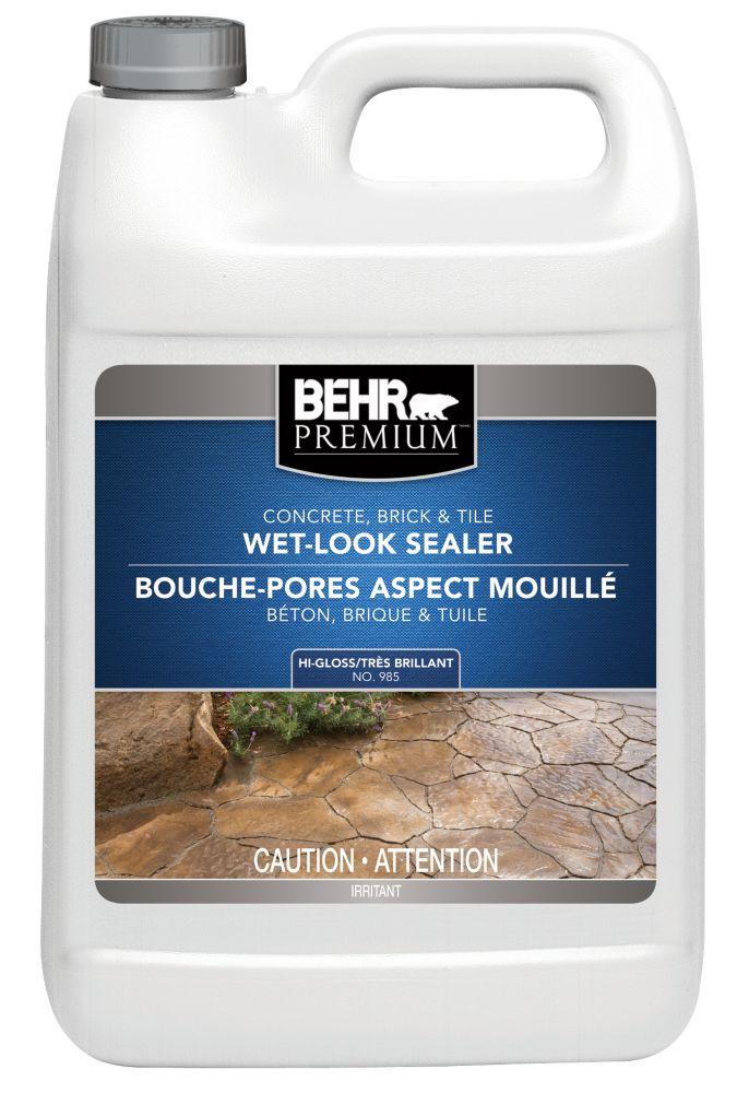 BEHR PREMIUM Concrete, Brick & Tile Wet-Look Sealer, High-Gloss - 3.79 L