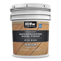 Behr Premium Transparent Weatherproofing Wood Finish, Natural, 18.3 L