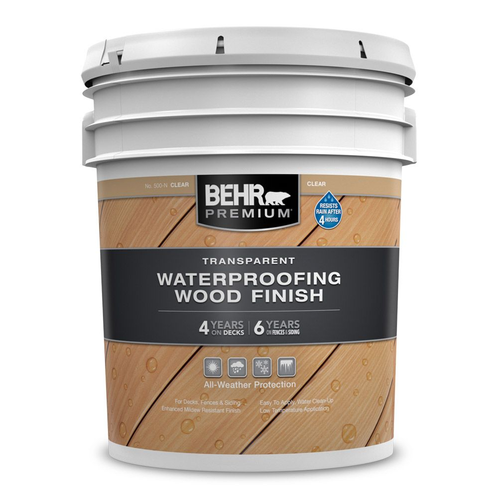 Behr Premium Transparent Weatherproofing Wood Finish, Natural, 18.3 L