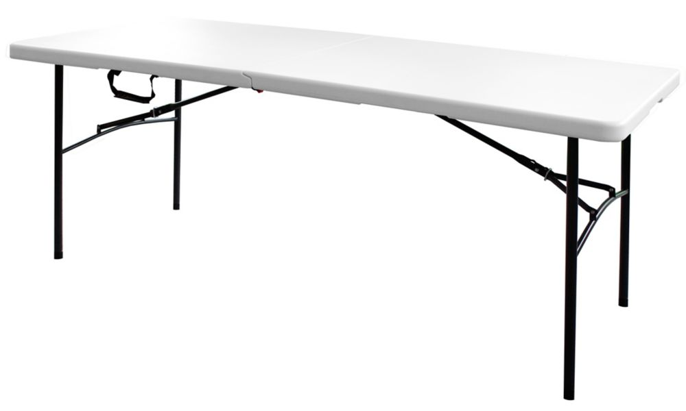 HDX 6 ft. Centre Folding Table in White