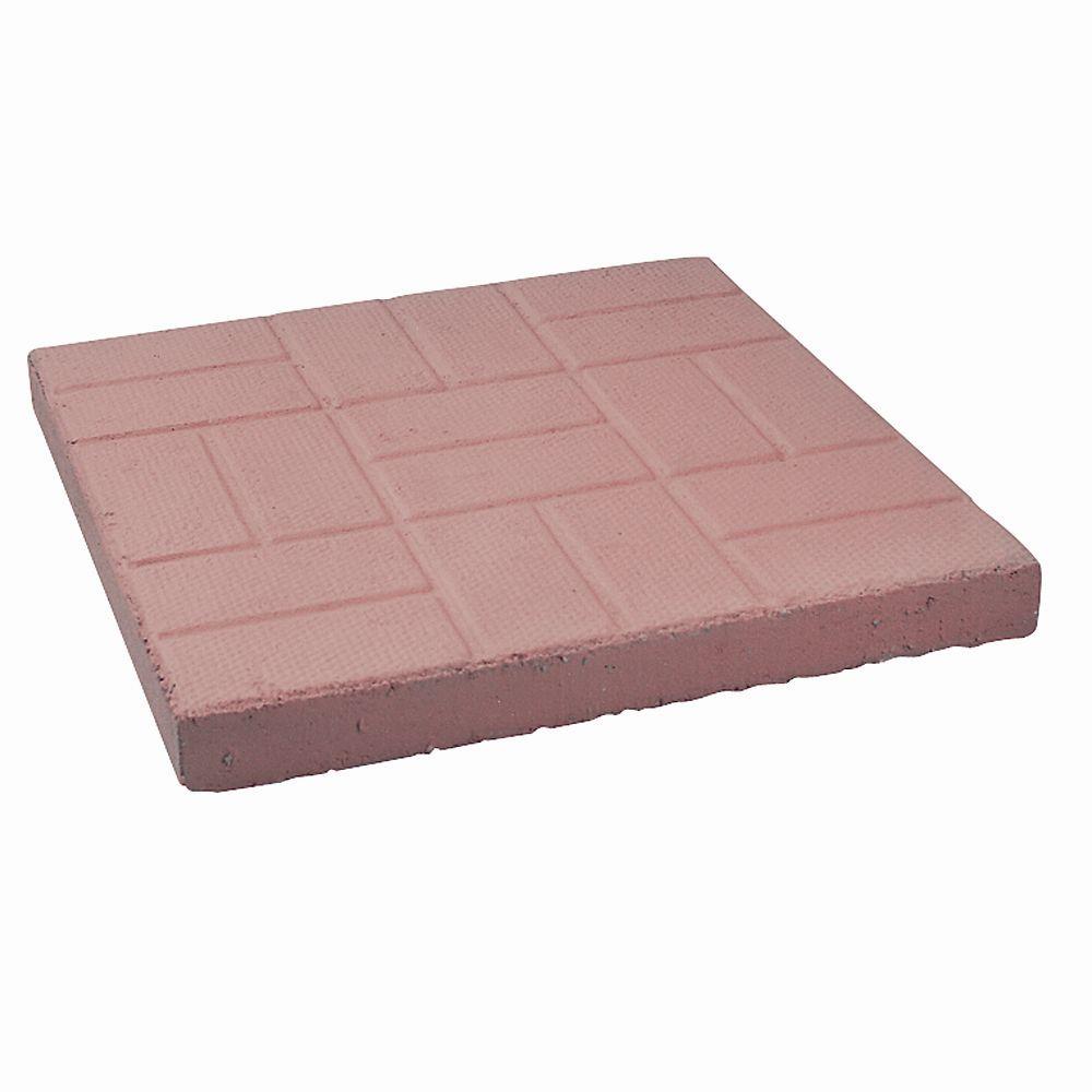 Decor Precast Red Brick Patio Paver - 24 Inch x 24 Inch