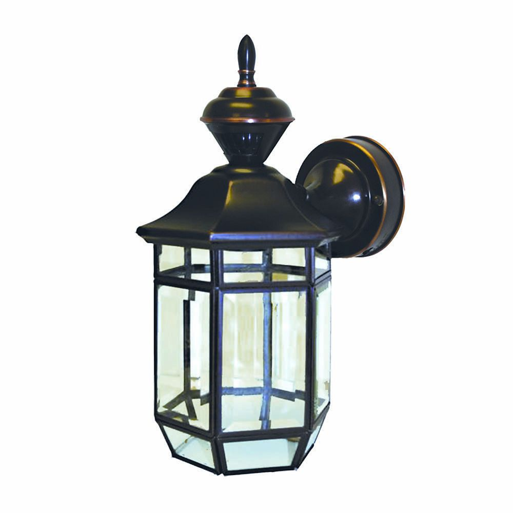 150 Degree Lexington Lantern with Clear Beveled Glass - Antique Copper
