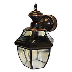 Heath Zenith Lanterne de carrosse suspendue de 150 degrés Heath Zenith avec verre transparent biseauté- bronze antique