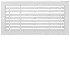 12 inch x 8 inch Plastic Sidewall Grille - White