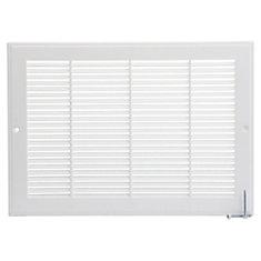 12 po x 8 po Grille murale en plastique - Blanc