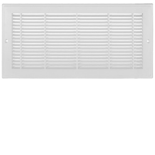 14 inch x 8 inch Plastic Sidewall Grille - White