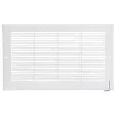 14 po x 8 po Grille murale en plastique - Blanc